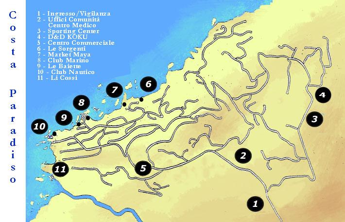 Karte Sardinien Strände.Beschreibung Von Dem Ort Mit Karte Von Costa Paradiso Wie Erreichen